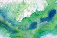 Green Waves Watercolor Abstract Splash 1 Fine-Art Print
