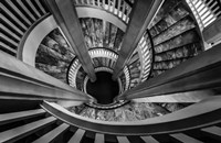 Royal Staircase 2 Black/White Fine-Art Print