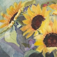 Sunflowers in Watercolor I Fine-Art Print