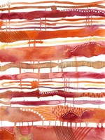 Tangerine Stripes I Fine-Art Print