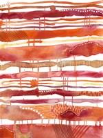 Tangerine Stripes I Fine-Art Print