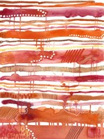 Tangerine Stripes II Fine-Art Print