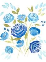 Cerulean Blooms I Fine-Art Print