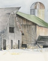 Winter Barn II Fine-Art Print