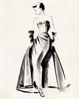 Vintage Costume Sketch I Fine-Art Print