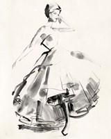 Vintage Costume Sketch II Fine-Art Print