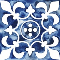 Cobalt Tile III Framed Print