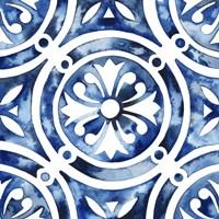 Cobalt Tile IV Framed Print