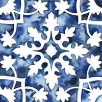 Cobalt Tile V Framed Print