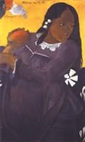 Woman with Mango Fine-Art Print