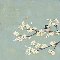 Chickadee & Dogwood I Fine-Art Print