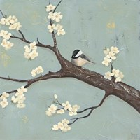 Chickadee & Dogwood II Fine-Art Print