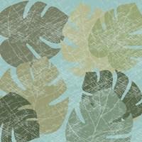 Faded Tropical Leaves II Fine-Art Print