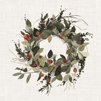 Farmhouse Wreath II Fine-Art Print