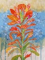 Indian Paintbrush Collage I Fine-Art Print
