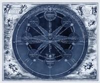 Indigo Planetary Chart Fine-Art Print