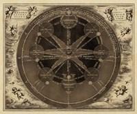 Sepia Planetary Chart Fine-Art Print