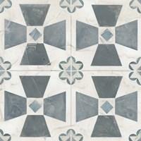 Teal Tile Collection IV Fine-Art Print