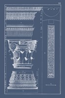 Column & Cornice Blueprint I Fine-Art Print