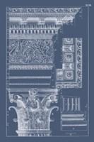 Column & Cornice Blueprint II Fine-Art Print