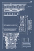 Column & Cornice Blueprint III Fine-Art Print
