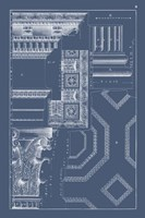 Column & Cornice Blueprint IV Fine-Art Print