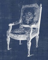 Antique Chair Blueprint IV Fine-Art Print