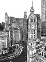 B&W Us Cityscape-Chicago Fine-Art Print
