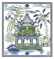 Pagoda Visit I Fine-Art Print
