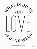 What is Done in Love Fine-Art Print