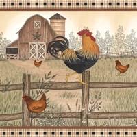Rustic Farm Rooster Fine-Art Print