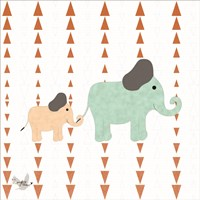 Zoo Animals Elephants Fine-Art Print