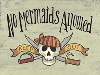 No Mermaid's Allowed Fine-Art Print