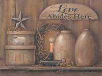 Love Abides Here Shelf Fine-Art Print