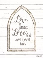 Love is Patient Arch Fine-Art Print