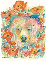 Bear and Poppies Fine-Art Print