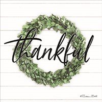 Thankful Boxwood Wreath Fine-Art Print