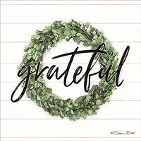 Grateful Boxwood Wreath Fine-Art Print