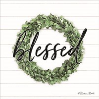 Blessed Boxwood Wreath Framed Print