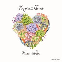 Happiness Blooms Succulents Fine-Art Print
