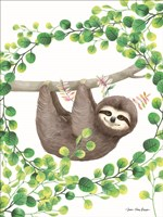 Hanging Around Sloth II Fine-Art Print