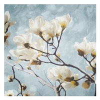 Tree Of White Flowers Mate Fine-Art Print