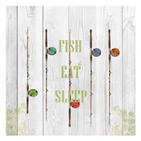 Fish Eat Sleep Fine-Art Print