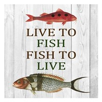 Live To Fish Fine-Art Print