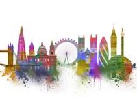 London Skyline Rainbow Bright Fine-Art Print