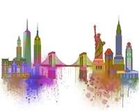 New York Skyline Rainbow Bright Fine-Art Print