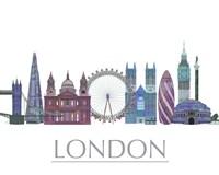 London Skyline Coloured Buildings Fine-Art Print