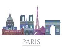 Paris Skyline Coloured Buildings Fine-Art Print