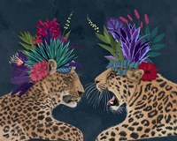 Hot House Leopards, Pair, Dark Fine-Art Print