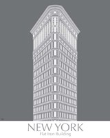 New York Flat Iron Building Monochrome Fine-Art Print